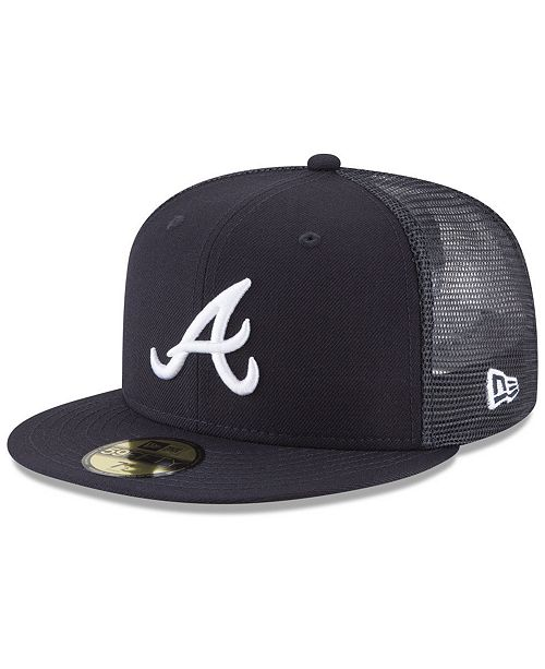 promo code b8e2b 3a397 ... New Era Atlanta Braves On-Field Mesh Back 59FIFTY Fitted Cap ...