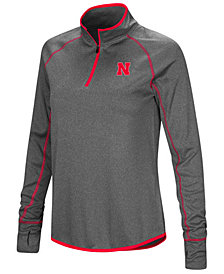 Colosseum Women's Nebraska Cornhuskers Shark Quarter-Zip Pullover