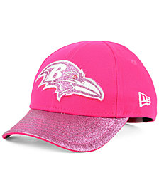 New Era Girls' Baltimore Ravens Shimmer Shine Adjustable Cap