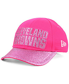 New Era Girls' Cleveland Browns Shimmer Shine Adjustable Cap