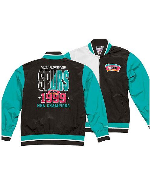 0389994cc78 Mitchell   Ness Men s San Antonio Spurs History Warm Up Jacket ...