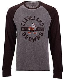 '47 Brand Men's Cleveland Browns Retro Encircled Long Sleeve Club Raglan T-Shirt