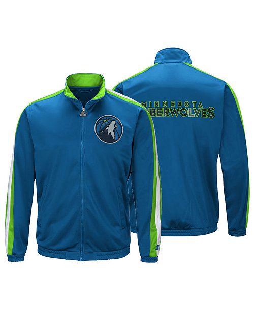G-III Sports Men's Minnesota Timberwolves The Challenger Starter Track Jacket