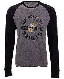 '47 Brand Men's New Orleans Saints Retro Encircled Long Sleeve Club Raglan T-Shirt