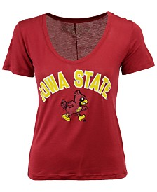 Retro Brand Women's Iowa State Cyclones Rayon V-Neck T-Shirt