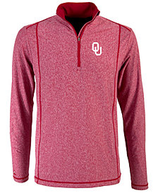 Antigua Men's Oklahoma Sooners Tempo Quarter-Zip Pullover
