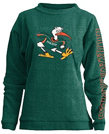 Pressbox Women's Miami Hurricanes Comfy Terry Sweatshirt