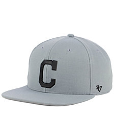 '47 Brand Cleveland Indians Gray Snapback Cap