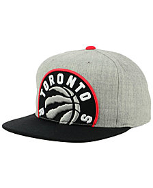 Mitchell & Ness Toronto Raptors Cropped Heather Snapback Cap