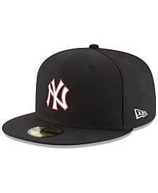 New Era New York Yankees Black Red Out 59FIFTY FITTED Cap