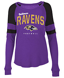 5th & Ocean Women's Baltimore Ravens Colorblock Long Sleeve T-Shirt