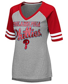 Women's Philadelphia Phillies Goal Line Raglan T-Shirt