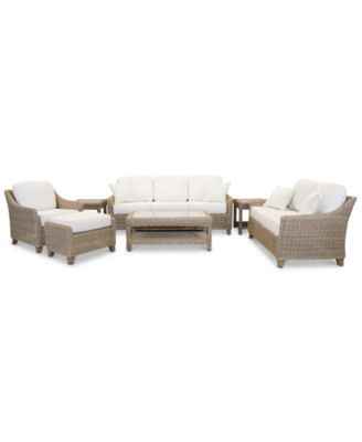 Willough Outdoor 7-Pc. Set (1 Sofa, 1 Loveseat, 1 Club Chair, 1 Coffee Table, 2 End Tables & 1 Ottoman), Created for Macy's