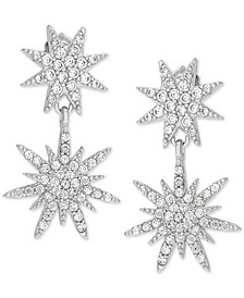 Cubic Zirconia Starburst Drop Earrings in Sterling Silver, Created for Macy's