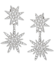 Giani Bernini Cubic Zirconia Starburst Drop Earrings in Sterling Silver, Created for Macy's