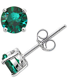 Giani Bernini Cubic Zirconia Stud Earrings in Sterling Silver, Created for Macy's