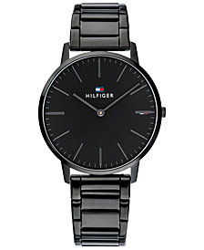 Tommy Hilfiger Men's Black Stainless Steel Bracelet Watch 40mm, Created for Macy's