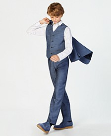 Big Boys Plain Weave Suit Pants