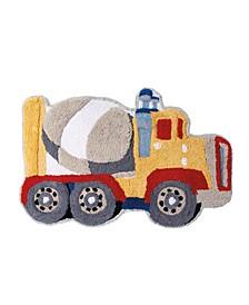 Trains and Trucks Bath Rug
