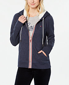 Tommy Hilfiger Faux-Fur Hooded Sweatshirt, Created for Macy's