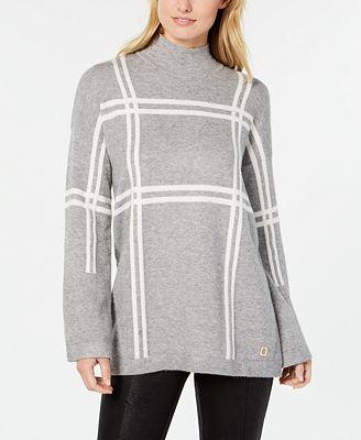 Tommy Hilfiger Plaid Mock Turtleneck Sweater Created For Macys