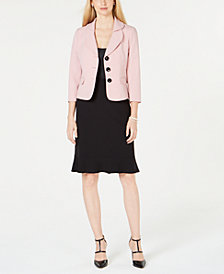 Le Suit Petal-Lapel Skirt Suit