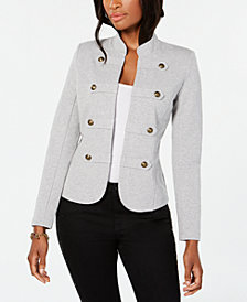 Tommy Hilfiger Sweatshirt-Knit Military Jacket, Created for Macy's