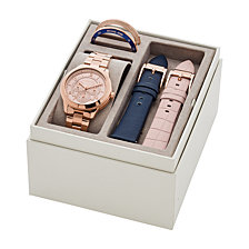 Michael Kors Women's Runway Rose Gold-Tone Stainless Steel Bracelet Watch Boxset 38mm