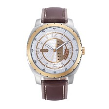 Men's ESQ0111 Stainless Steel Watch, Two-Tone Dial, Day and Date Windows