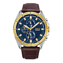 Men's ESQ0134 Two-Tone Stainless Steel Chronograph Watch with Blue Dial