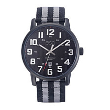Men's ESQ0260 Black IP Stainless Steel Watch, Black Dial, Matching Nato Strap