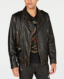 I.N.C. Men's Carter Leather Jacket, Created for Macy's