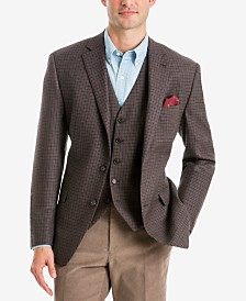 Lauren Ralph Lauren Men's Classic-Fit Light Brown/Blue Multi Check Wool Jacket and Vest Separates