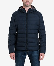 Michael Kors Men's Big & Tall Down Blend Puffer Jacket, Created for Macy's
