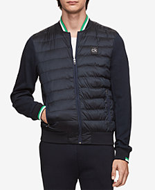Calvin Klein Men's Mixed-Media Puffer Jacket