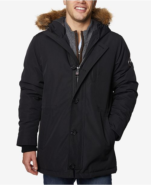 Halifax HFX Men s Faux-Fur-Trimmed Jacket   Reviews - Coats ... cbddcbf82