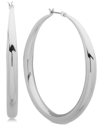 Image of Anne Klein Tapered Hoop Earrings