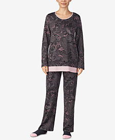 Ellen Tracy Printed Knit Pajama Set