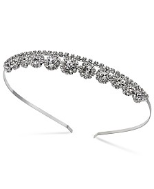 I.N.C. Silver-Tone Crystal Stone Headband, Created for Macy's
