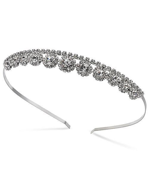 INC International Concepts INC Silver-Tone Crystal Stone Headband, Created for Macy's