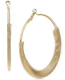 "Thalia Sodi Extra Large Gold-Tone Half-Wrapped Hoop Earrings, 3"", Created for Macy's"