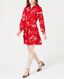 Maison Jules Printed Ruffled Shirtdress, Created for Macy's