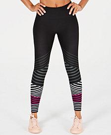 Calvin Klein Performance Striped High-Waist Ankle Leggings