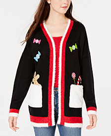 Hooked Up by IOT Juniors' Holiday Cardigan Sweater