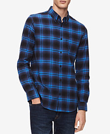 Calvin Klein Men's Brushed Flannel Shirt