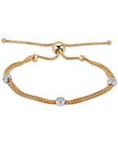 300c8b25b87 Diamond Beaded Bolo Bracelet (1/6 ct. t.w.) in Sterling Silver &