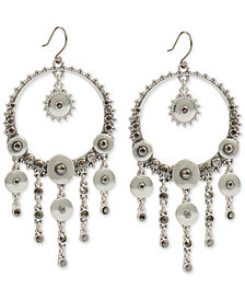 Lucky Brand Silver-Tone Pavé Disc Statement Earrings