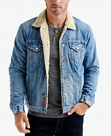 Lucky Brand Men's Fleece-Lined Denim Trucker Jacket