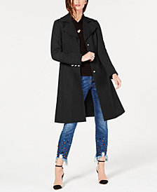 I.N.C. Petite Cotton Seamed Coat, Created for Macy's