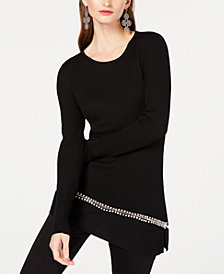 I.N.C. Asymmetrical Embellished Tunic, Created for Macy's